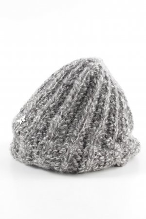 Barts Knitted Hat black-white flecked street-fashion look