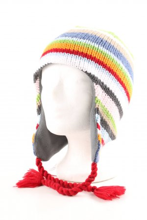 Barts Chapeau en tricot motif rayé style décontracté