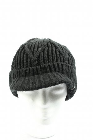 Barts Knitted Hat black cable stitch casual look