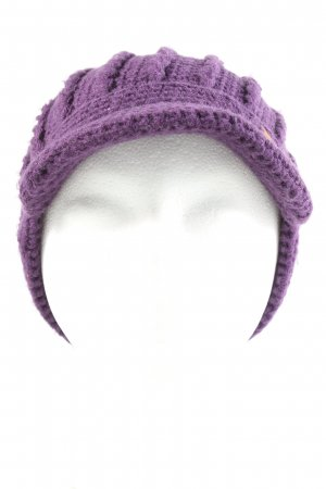 Barts Knitted Hat lilac cable stitch casual look