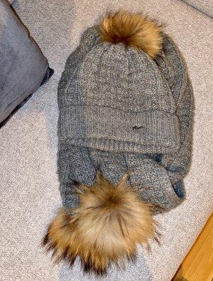 Barts Sombrero de punto gris-marrón