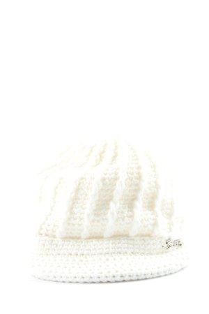 Barts Sombrero de punto blanco look casual