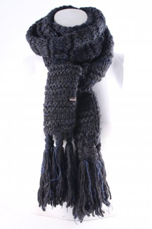 Barts Knitted Scarf anthracite-blue casual look
