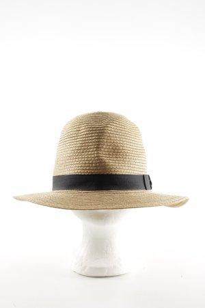 Barts Chapeau de paille crème-noir élégant