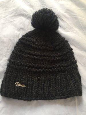 Barts Knitted Hat dark blue-black