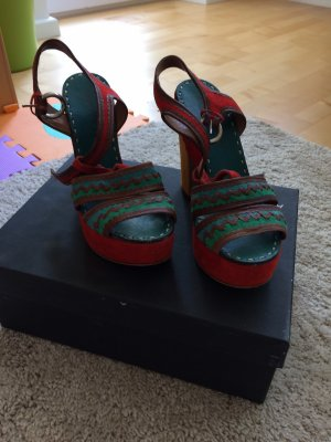Bartu Platform Sandals red