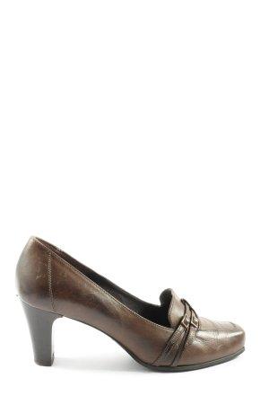 Bartu Chaussure à talons carrés brun style d'affaires