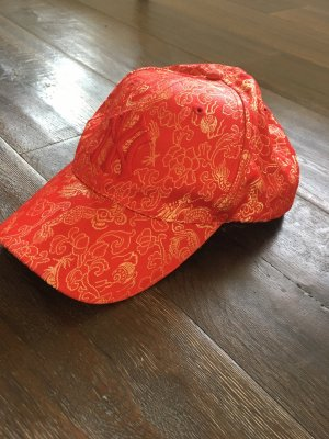 (The Mercer) NY Gorra de béisbol color oro-rojo