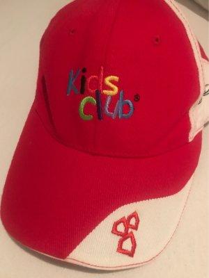 Baseballówka czerwony-biały