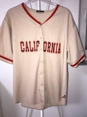 Baseball hemd in beige