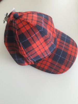 Fabric Hat red-blue