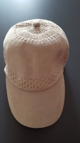 Chapeau de soleil beige clair tissu mixte