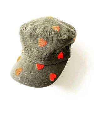basecap • mütze • hut • khaki • orange • vintage