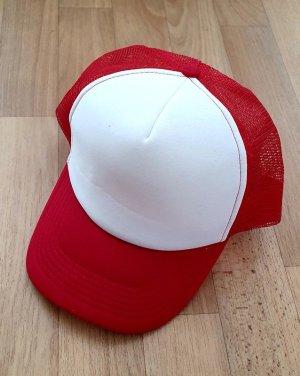 Baseball Cap white-red