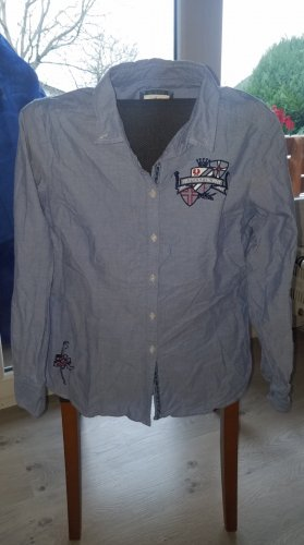 Basefield Lange blouse azuur