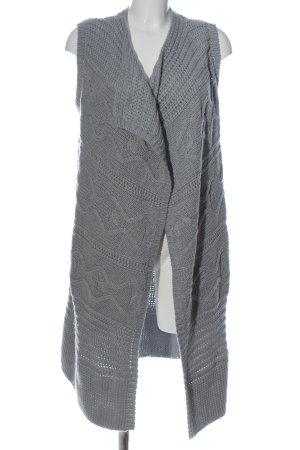 Basefield Cardigan grigio chiaro punto treccia stile casual