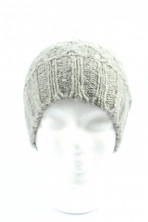 Basefield Bonnet en crochet gris clair style décontracté