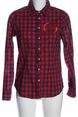 Basefield Camicia da boscaiolo rosso-blu motivo a quadri stile casual