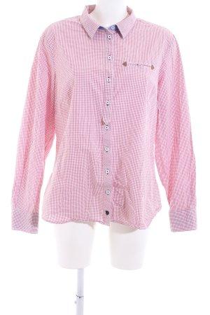 Basefield Geruite blouse roze geruite print casual uitstraling