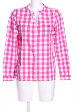 Basefield Blouse à carreaux rose-blanc motif à carreaux style décontracté