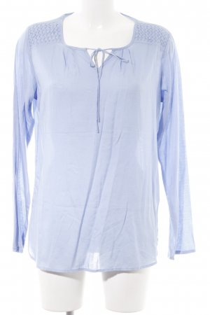 Basefield Langarm-Bluse blau Casual-Look