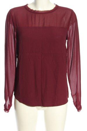 Basefield Langarm-Bluse rot Casual-Look
