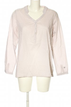 Basefield Langarm-Bluse creme-weiß Allover-Druck Casual-Look