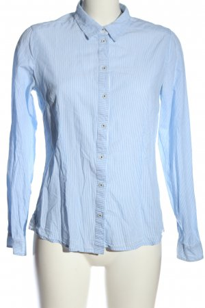 Basefield Camicia a maniche lunghe blu-bianco motivo a righe stile professionale