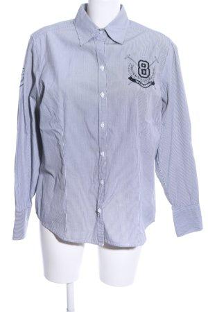 Basefield Shirt met lange mouwen lichtgrijs geborduurde letters zakelijke stijl