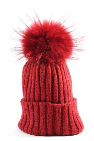 Basefield Wełniana czapka czerwony W stylu casual