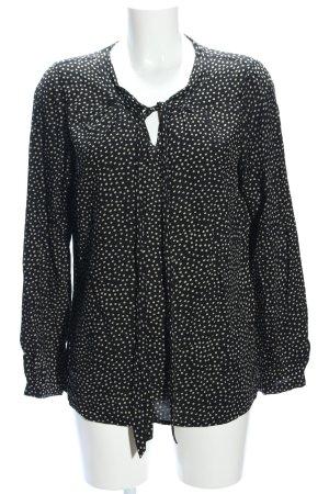 Basefield Slip-over blouse zwart-lichtgrijs volledige print zakelijke stijl