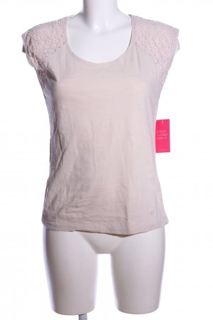 Basefield T-shirt wolwit casual uitstraling
