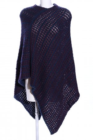 Basefield Knitted Poncho blue-lilac casual look