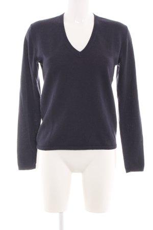 Basefield V-Ausschnitt-Pullover blau Casual-Look