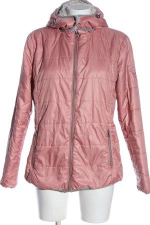 Basefield Winterjack roze-lichtgrijs quilten patroon casual uitstraling