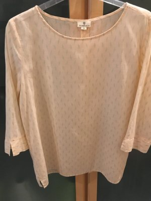 Basefield Slip-over Blouse olive green-nude cotton