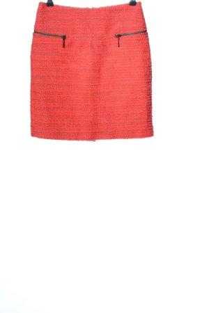 Basement Tweed Skirt pink-red weave pattern elegant