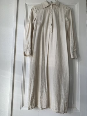 Baserange Dress Natur Seidenkleid Mididress in Creme S