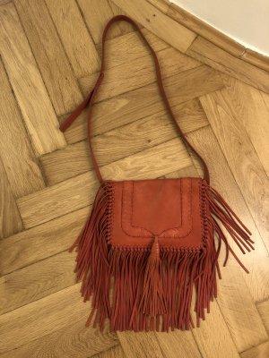 Bash Ba&Sh Crossbody Handtasche Erhno Style in rot mit Fransen, Boho Style