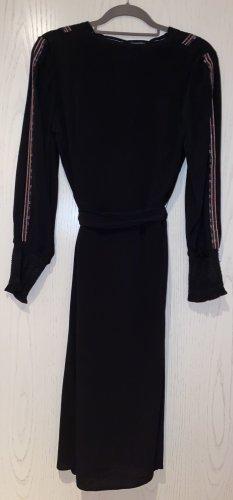 Ba&sh Sukienka midi czarny-kremowy