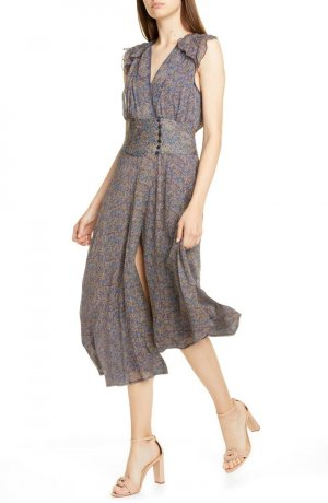Ba&sh Sukienka bez ramiączek ciemnoniebieski-ciemny fiolet