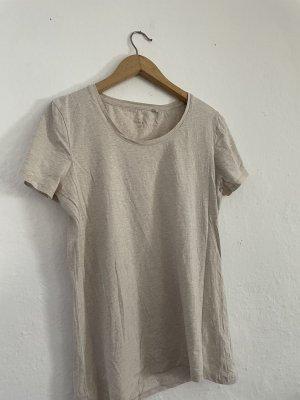 basics clockhouse T-shirt beige