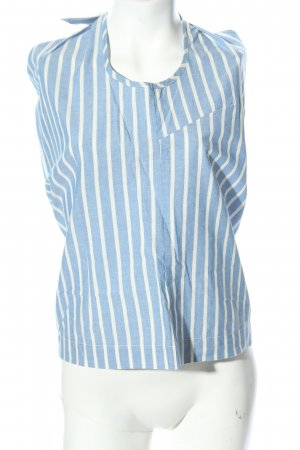 Basic Apparel Blouse Top blue-white striped pattern casual look