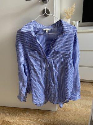 Basic Bluse H&M blau weiß