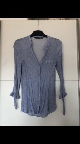 Basic Bluse von Zara in blau Größe 34