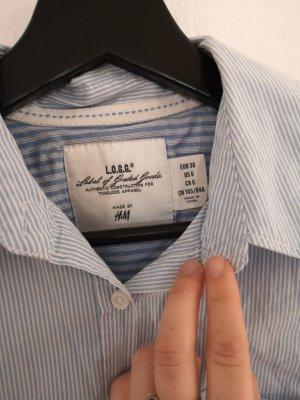 Basic Bluse weiß hellblau gestreift
