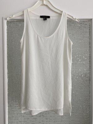 basic chiffonbluse in weiß