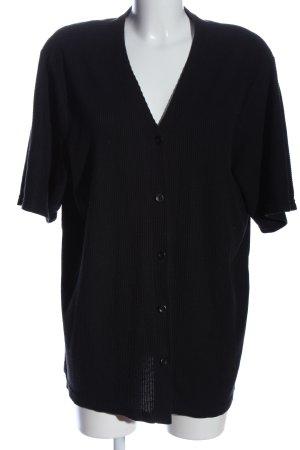 Basic Concept Blouse met korte mouwen zwart casual uitstraling