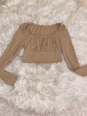 Cropped Shirt beige