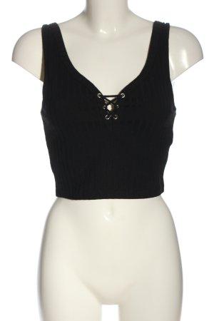 Basic Cropped top zwart casual uitstraling